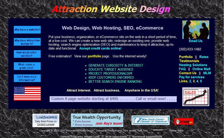 Attraction Web Design