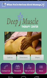 Massage & fitness mobile apps