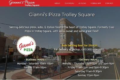 Restaurant websites for pizza shops
