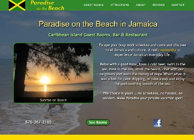 Lodging website for guest house