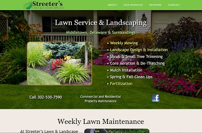 landscaping lawn care websites