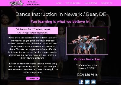 Dance school websites