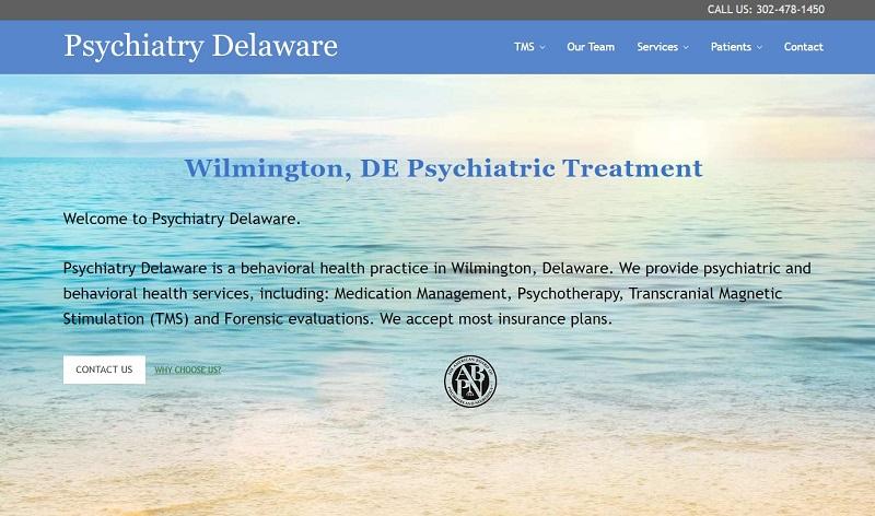 Psychiatry Delaware website
